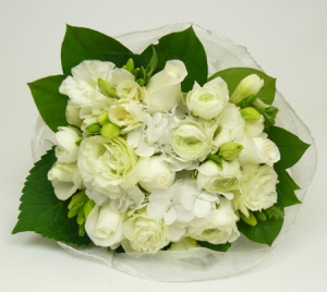 Lumiere White Flower Posy