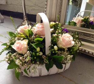 Rose And Freesia Basket