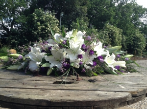 White Lily And Purple