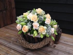 Peach And Cream Basket