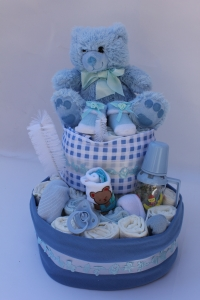 Blue Or Pink Nappy Cake