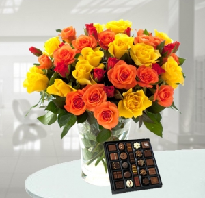 Mixed Roses And Chocolate