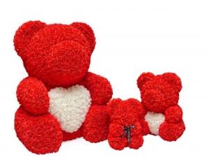 Foam Roses Bear Red 40 Cm