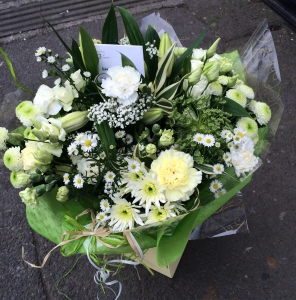 White Aqua Bouquet