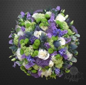 Blue And Lime Posy