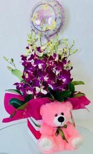 Balloon, Flowers, Teddy