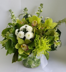 Green & White Pot