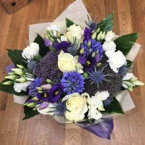 White & Blue Bouquet