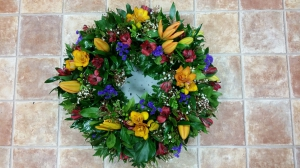 Orange Lilly Wreath