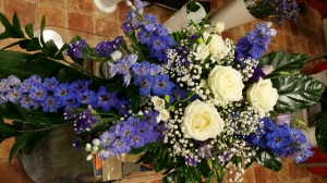 Blue Delphiniums Spray