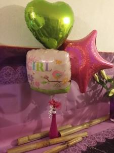 3 Balloon Vase & Flower