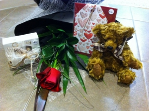 Single Rose, Choc And Ted