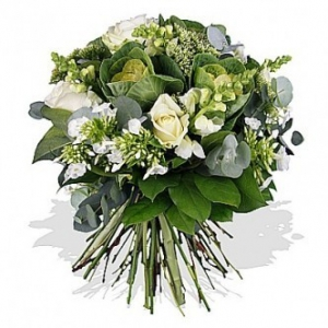 White Roses And Brassica
