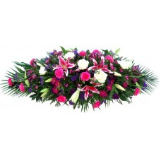 Cerise Casket Spray