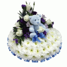 Baby Boy Massed Posy Pad
