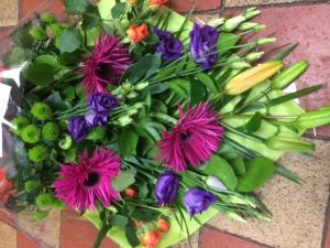 Vibrant Gift Wrap Bouquet