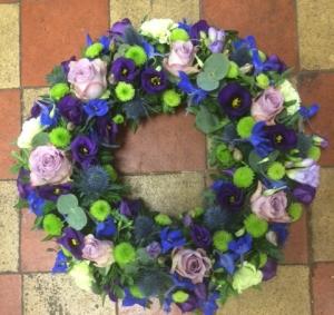 Green & Purple Wreath.