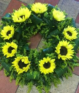 Sunflower Wreath.