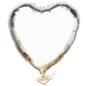 Silver Heart Balloon