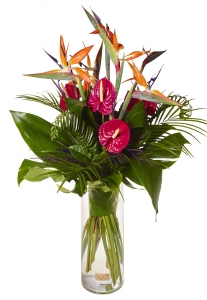 Tall Exotic Vase