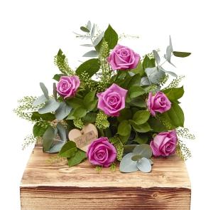 Half Dozen Pink Roses