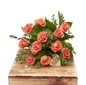 Vibrant Orange Dozen Rose