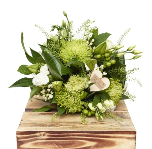Green & White Hand Tied