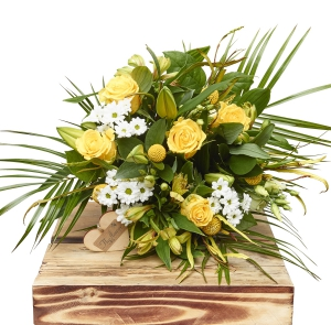 Lemon And White Hand Tied