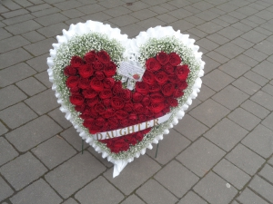 Large Rose Heart