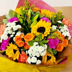 Happy Flowers Hand Tied Bouquet