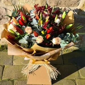 Harvest Festival Hand Tied Bouquet