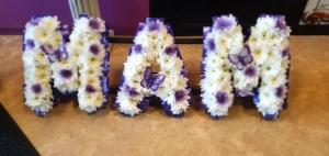 Mam Letter Wreath