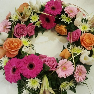 Passion Peach Wreath