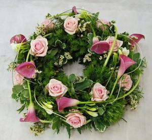 Calla & Rose Wreath