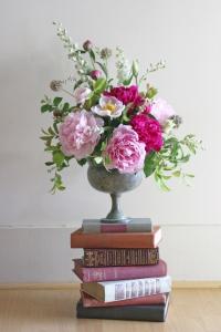 Pink Floral Urn