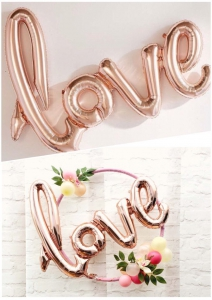 Love Rose Gold Balloon