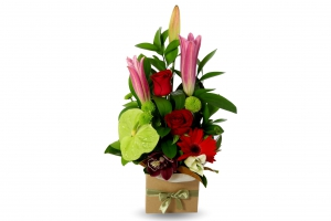 Ruby Red Arrangement
