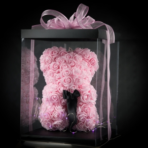 Pink Forever Rose Teddy