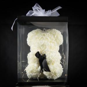 White Forever Rose Teddy
