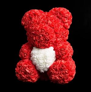 Red Forever Rose Teddy