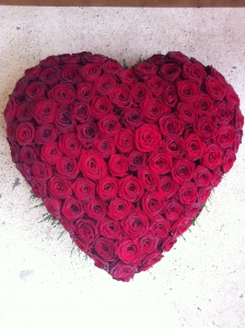 Luxury Red Rose Heart
