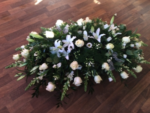 White Rose & Lily Coffin