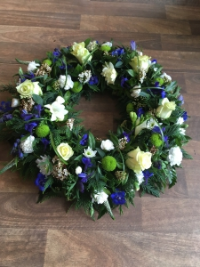 Blue And Cream Wreath
