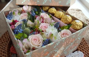 Flowers And Chocolate Box