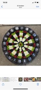 Dartboard Funeral Tribute