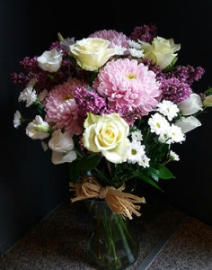 Pink And White Hand Tied
