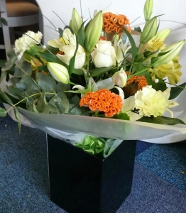Rose And Lilly Hand Tied