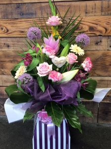 Pink Tall Box Bouquet