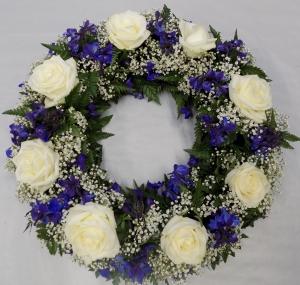 Delphinium Wreath