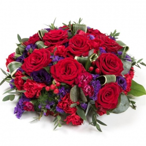 Red Rose & Purple Posy Pa